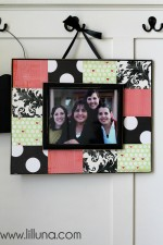 Scrapbook Frame Tutorial on { lilluna.com }