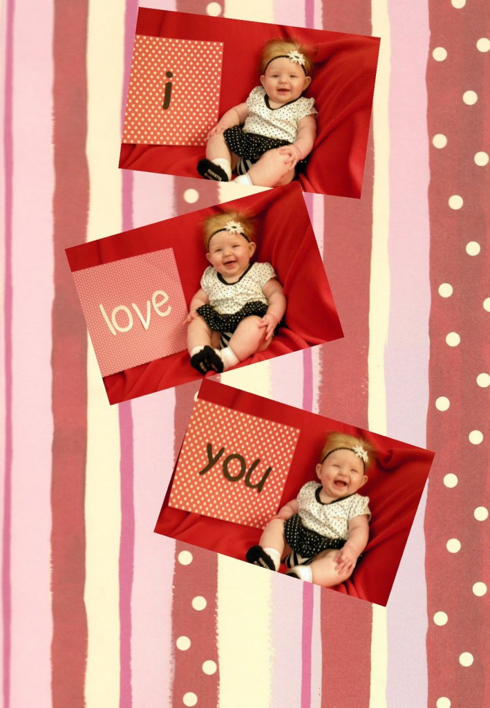 Personalized Valentines to make with your child to say I LOVE YOU.