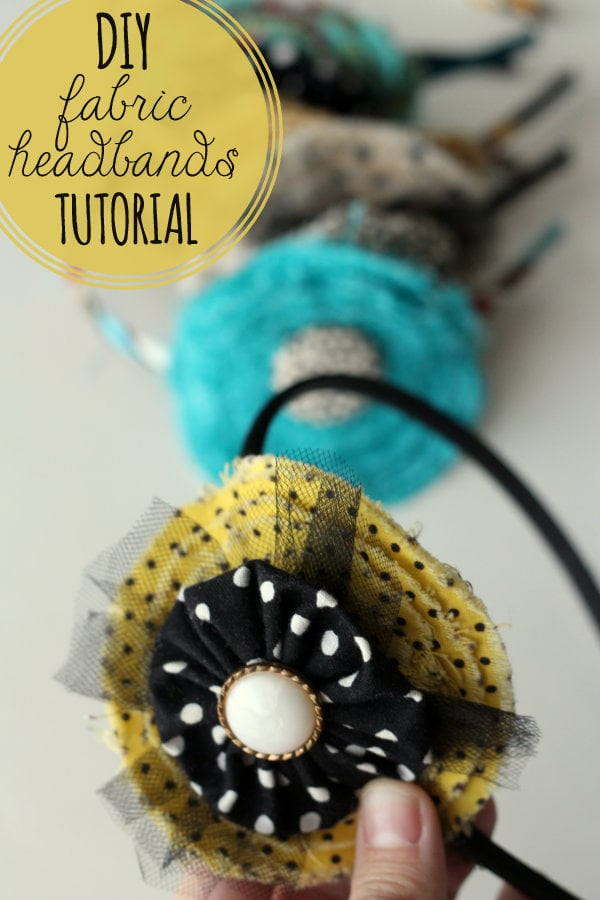 How to make this Cute and Inexpensive DIY Fabric Headbands - great gift idea!!