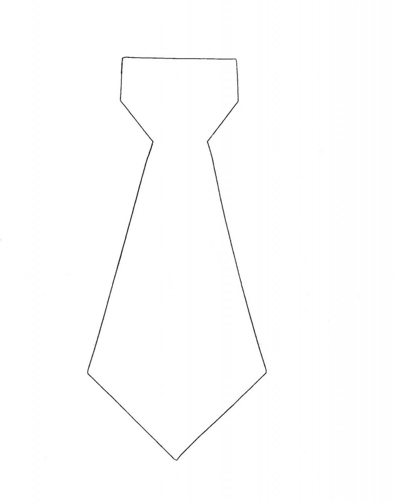 Printable Tie Template Pattern