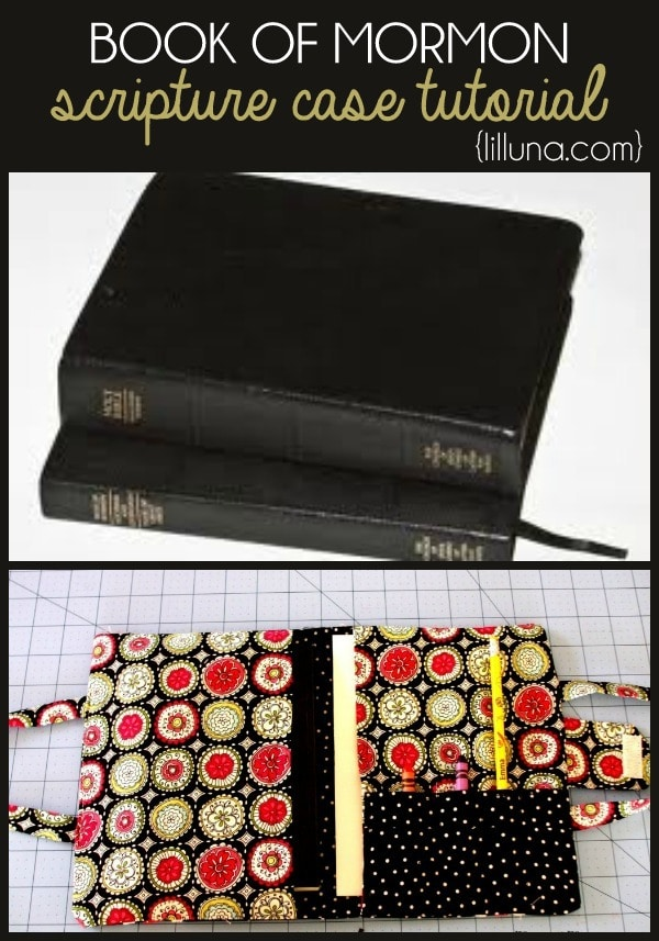 Book Of Mormon Fabric Cover Tutorial ~ Scripture case tutorial