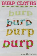 BURP Cloths - cute gift idea!