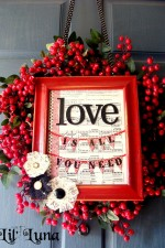 Valentines Wreath and Frame