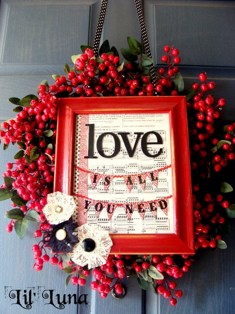 valentine wreaths for your front door25 DIY Valentines Day Wreaths  Six Sisters Stuff