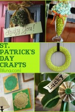 CUTE St. Patricks Day Crafts! All super cute, and all super easy! { lilluna.com }-001