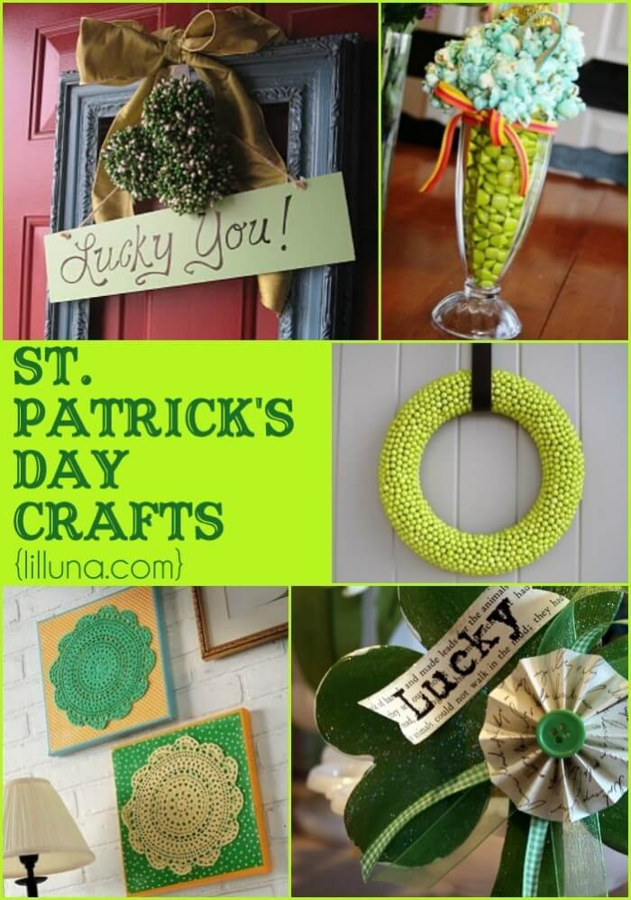 CUTE St. Patricks Day Crafts! All super cute, and all super easy! { lilluna.com }