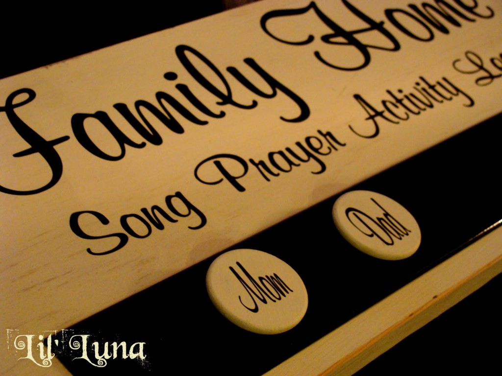 Cute and Easy Family Home Evening Board Tutorial on { lilluna.com }! Great way to give assignments!
