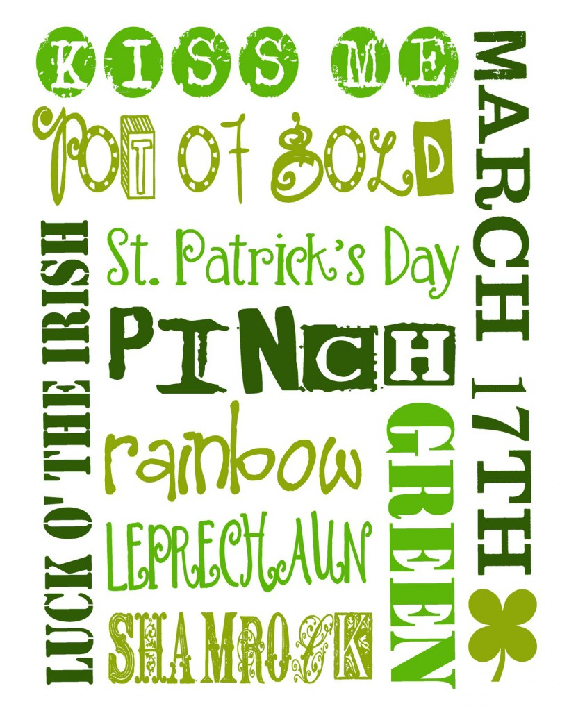 FREE St. Patrick's Day Printables on { lilluna.com }!! A collection of ...