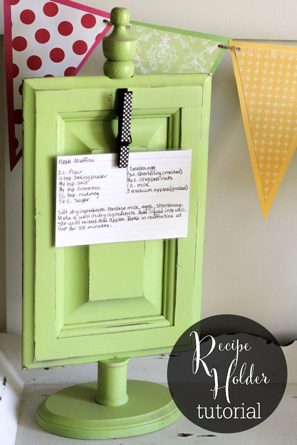 Recipe Holder Tutorial - so cute and simple! { lilluna.com }