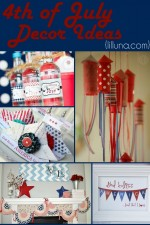 4th of July Decor Ideas!! { lilluna.com }