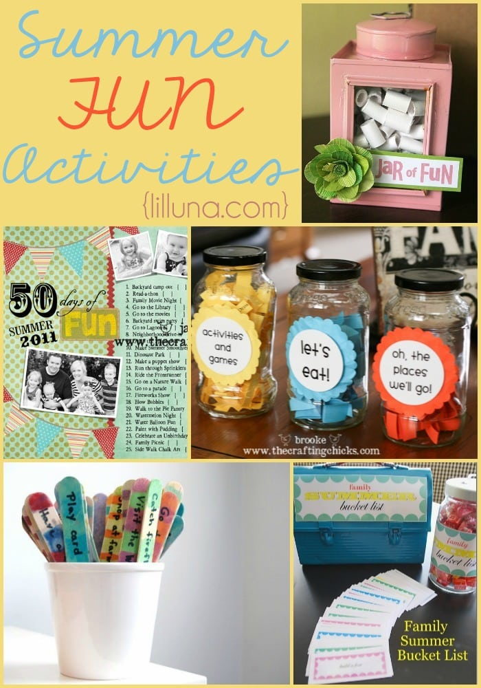 A collection of Summer Fun Activities for kids and family!! { lilluna.com }