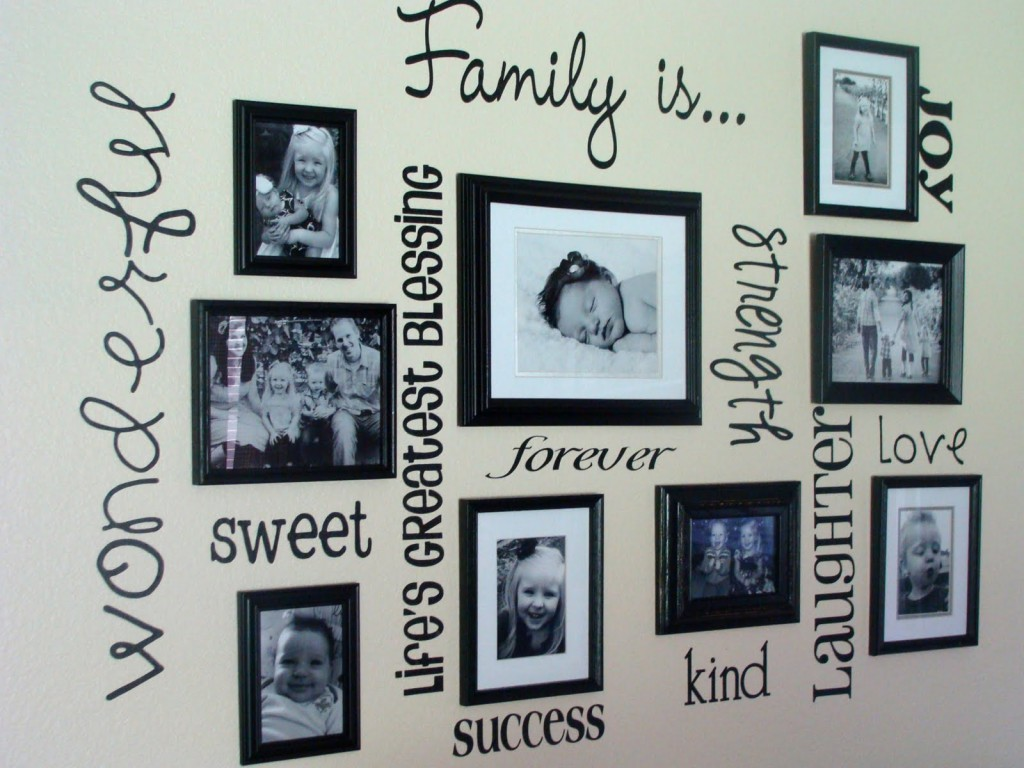 30 awesome photo wall ideas picbackman for Collage mural ideas