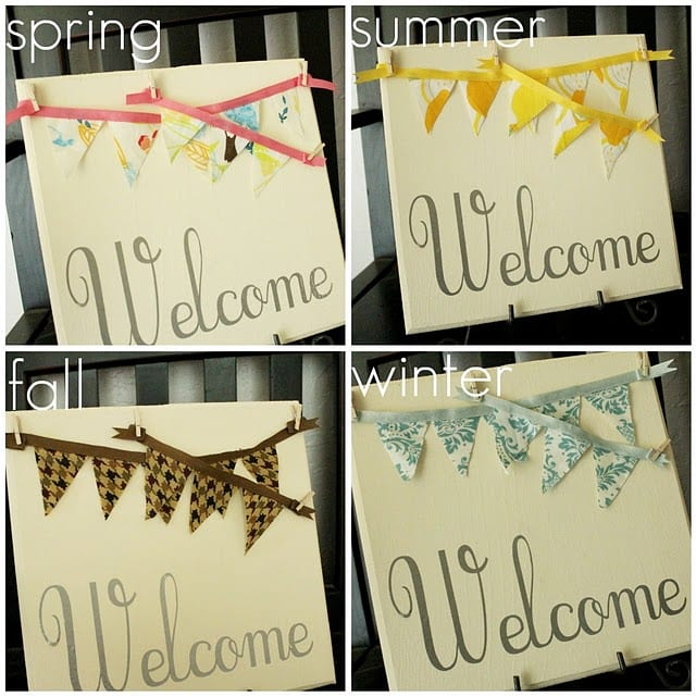 Interchangeable Bunting Plaque tutorial from Lolly Jane on { lilluna.com }
