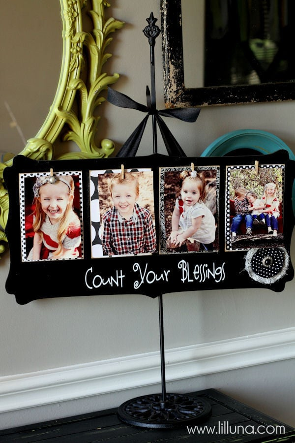 Cute and Inexpensive Count Your Blessings Board