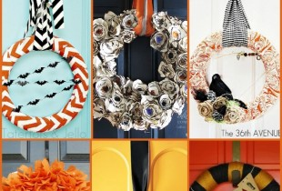 25 Halloween Wreaths that are SURE to inspire the perfect Halloween wreath!! { lilluna.com }