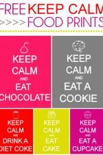 FREE KEEP CALM Food Prints