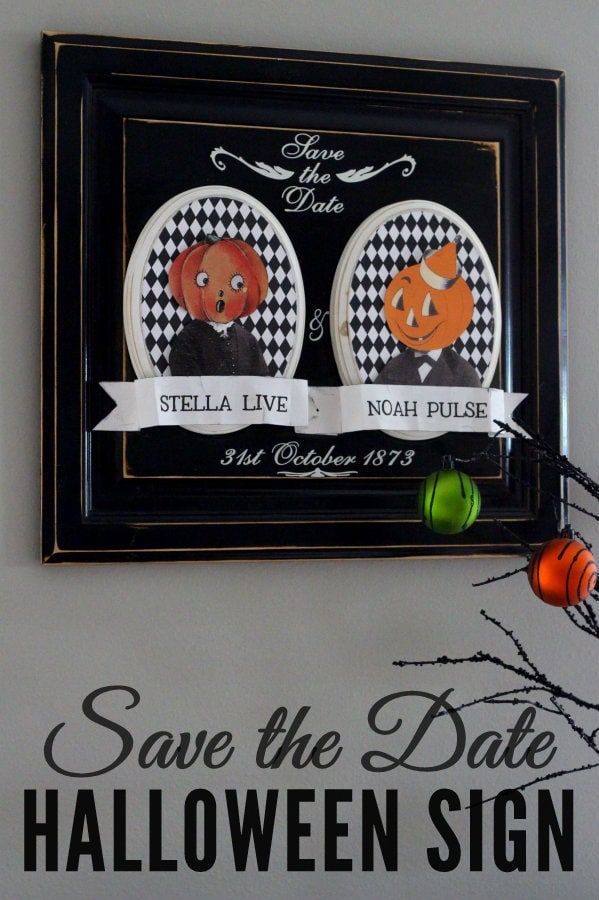 Save the Date Halloween Sign!