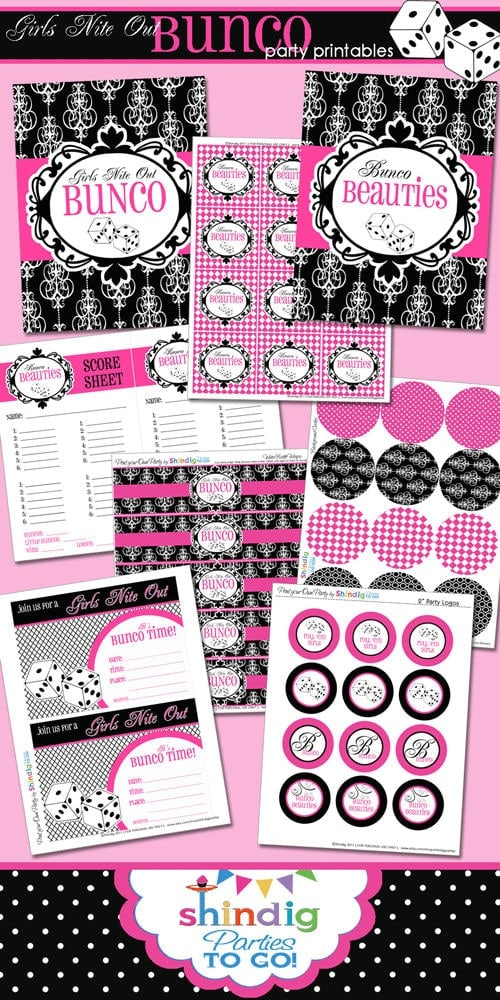 Free Bunco Printables from Shindig Parties To Go on { lilluna.com } Great game night!!