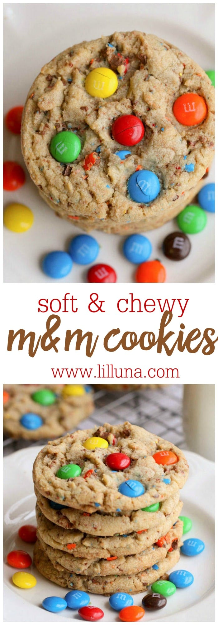 Soft and Chewy M&M Cookies - this treat recipes is always a hit and easy to make! { lilluna.com }