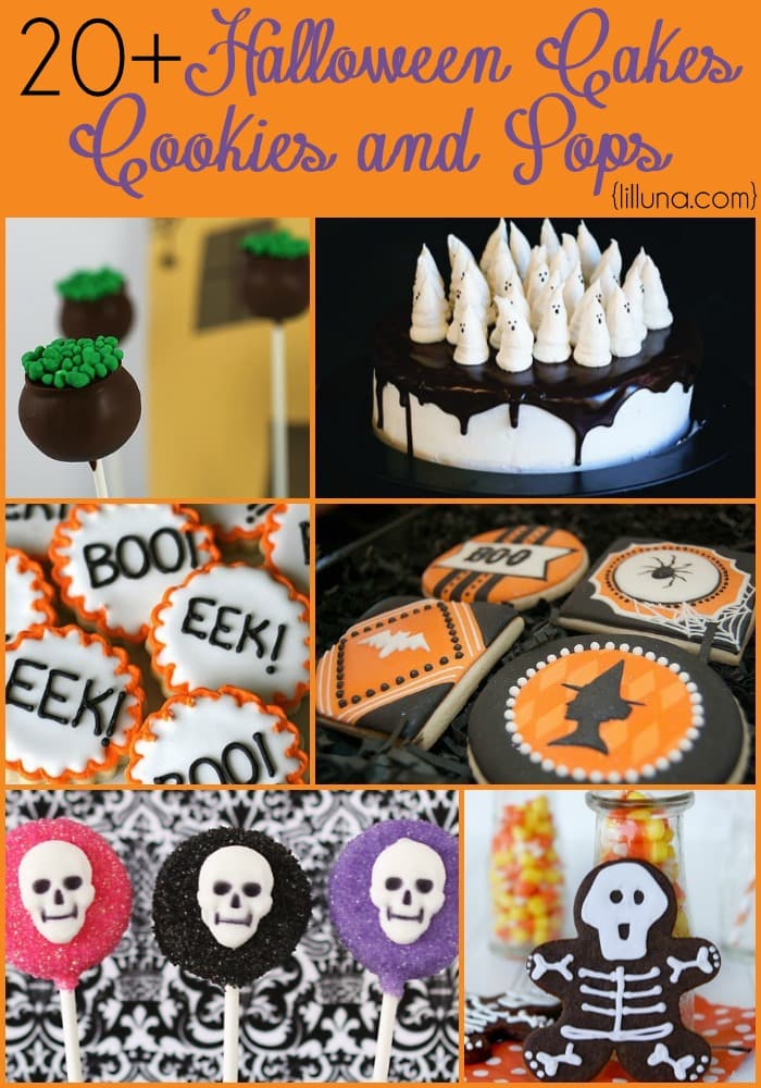 20+ Halloween Cakes, Cookies and Pops IDEAS! So many creative and tasty looking ideas!! { lilluna.com }