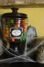 Vintage Halloween Jar Labels