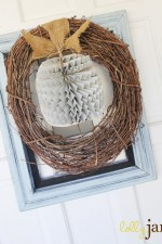 Framed Pumpkin Wreath