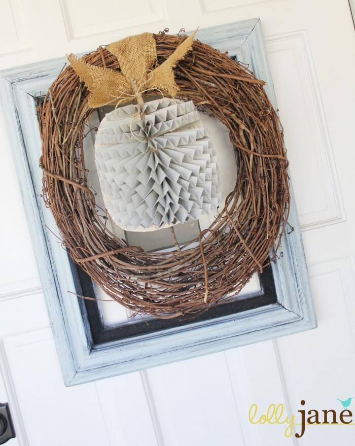 Framed Pumpkin Wreath from Kelli & Kristi @ Lolly Jane. { lilluna.com }