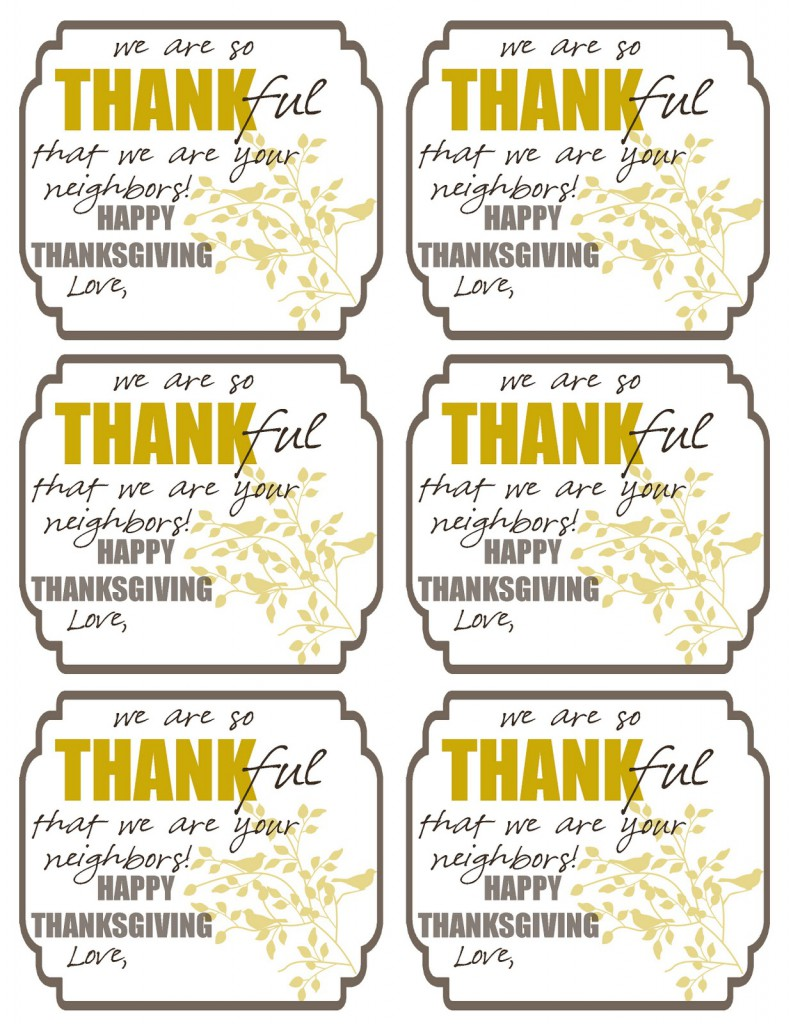 FREE Thankful Printable Tags on { lilluna.com } Cute idea to add to any gift!!