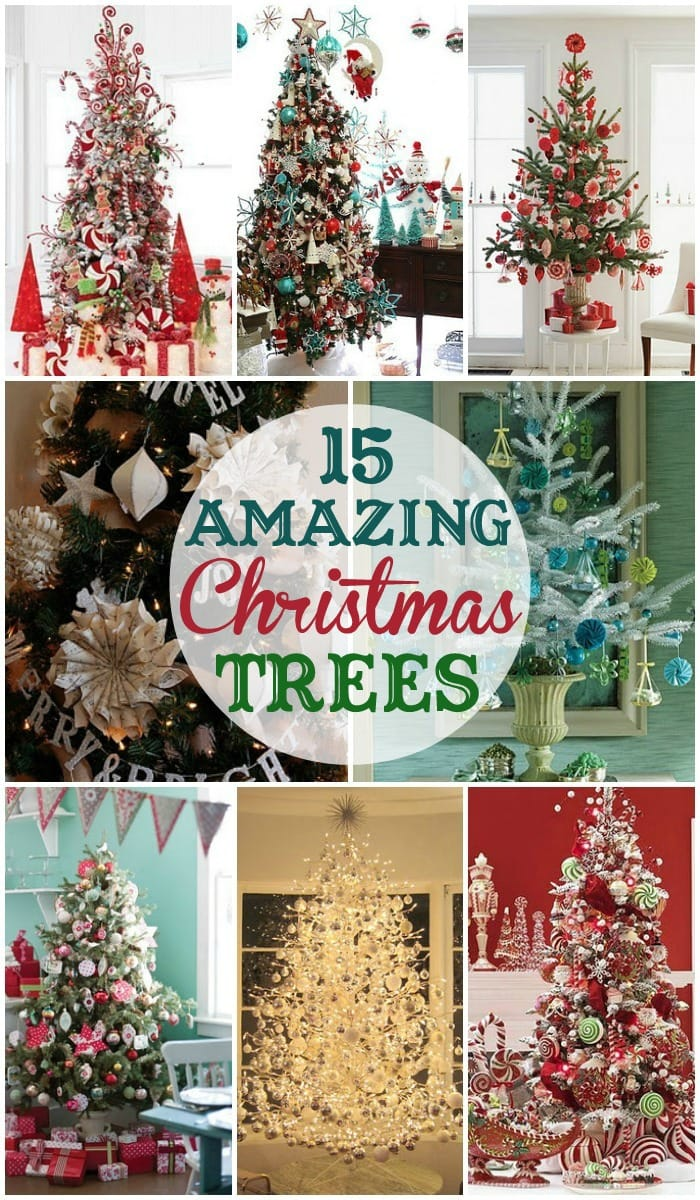 15 Amazing Christmas Trees to inspire your own Christmas tree decorating this season! { lilluna.com }