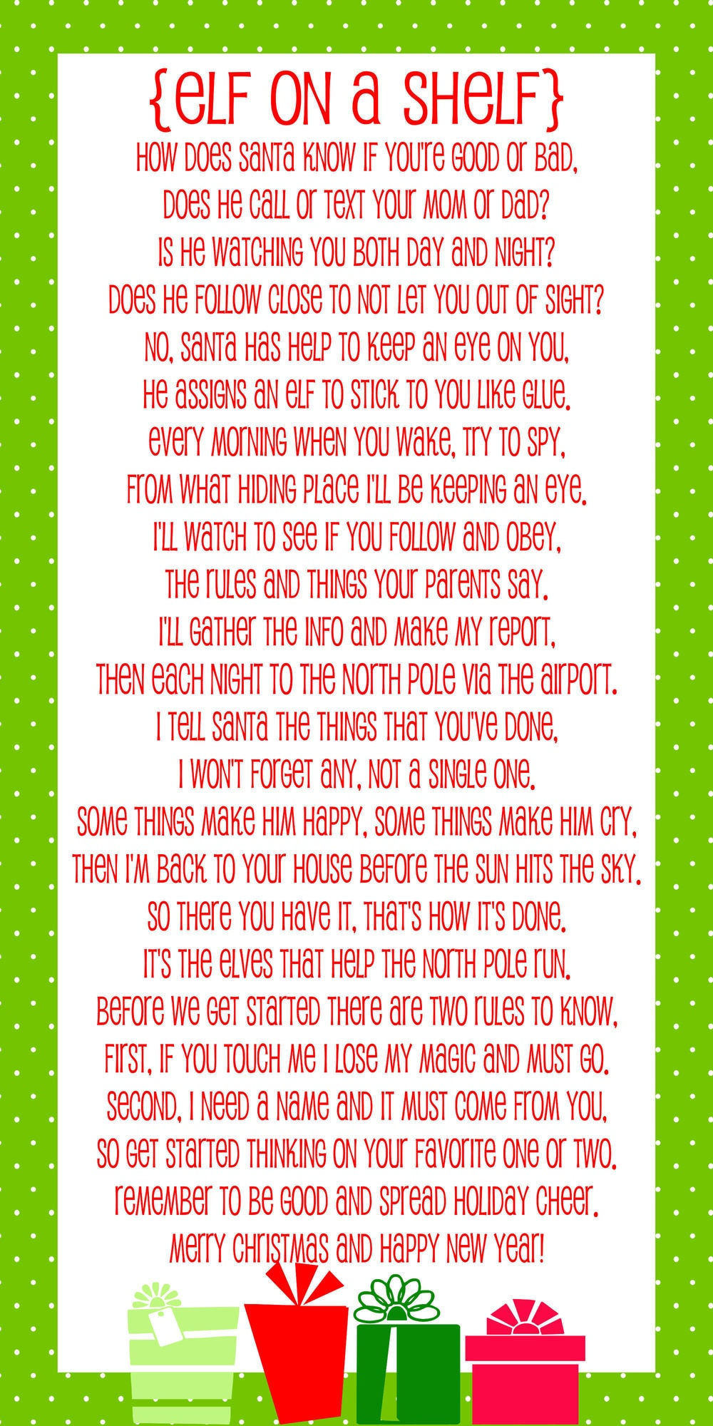 elf on the shelf letters printable traditions 48462