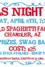 GIRLS NIGHT OUT! April 8th, 7:30 PM