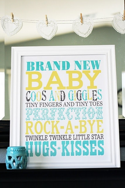 Free Baby Subway Art print on { lilluna.com } Cute decor Idea or give as a gift!!