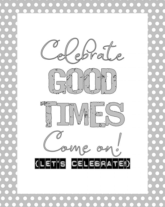 2012 FREE New Year's Printables! Great idea for your New Year's Party!