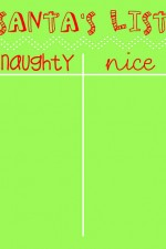 Naughty or Nice List PRINTABLE