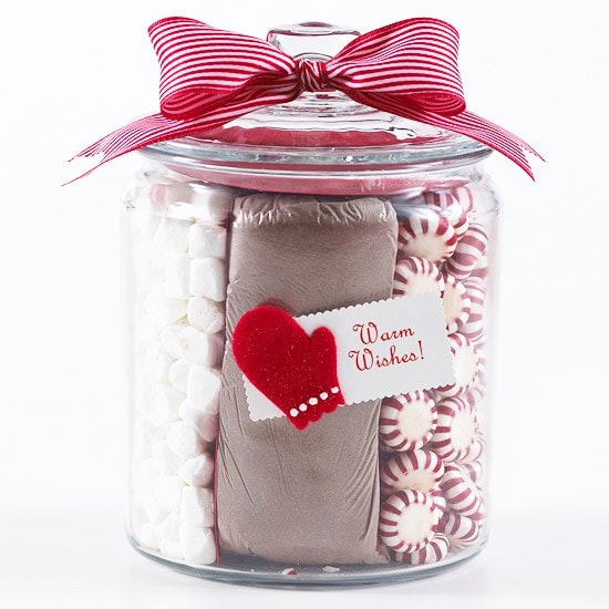 Hot Chocolate gift idea from BHG!! Such a great idea for the holidays!
