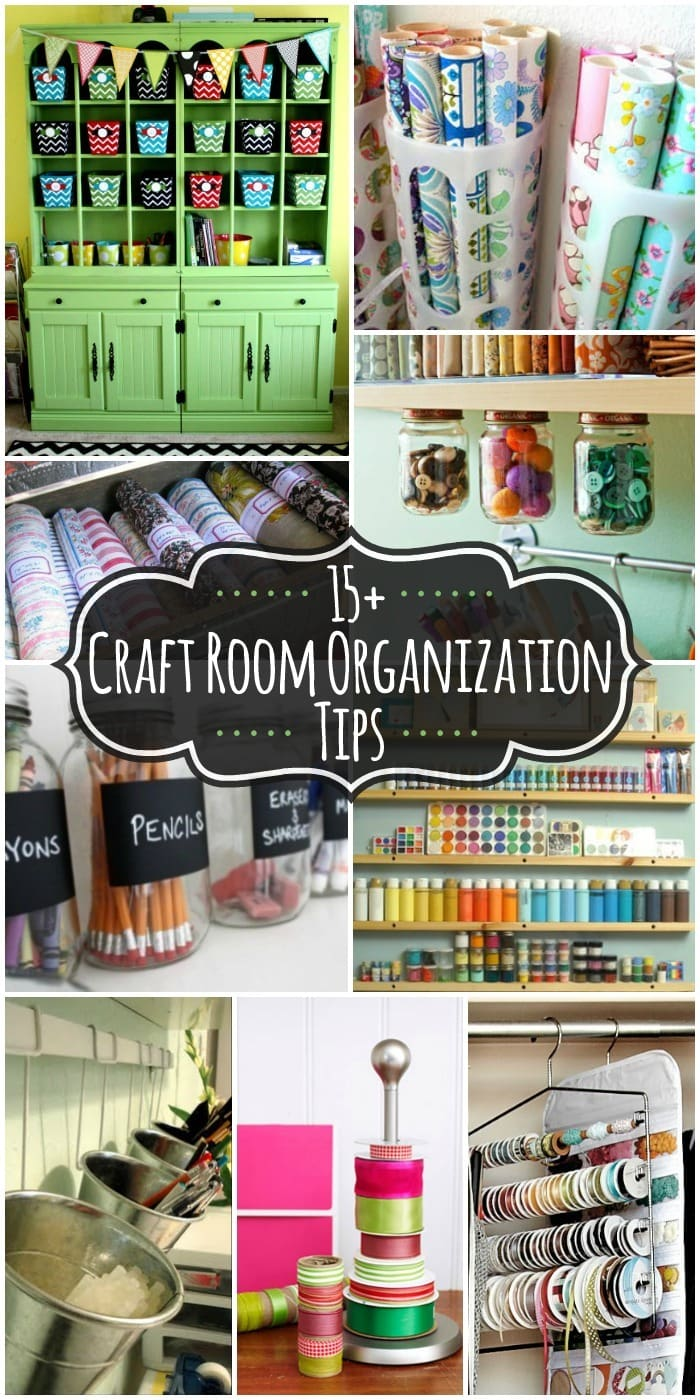 15+ Craft Room Organization Ideas to keep your craft room neat and tidy on { lilluna.com }