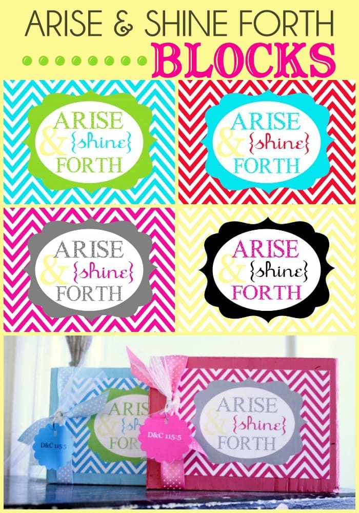 How to make these super adorable Arise and Shine Forth Blocks! Very easy and your young women will love them!