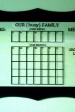 Dry-Erase Glass Calendar