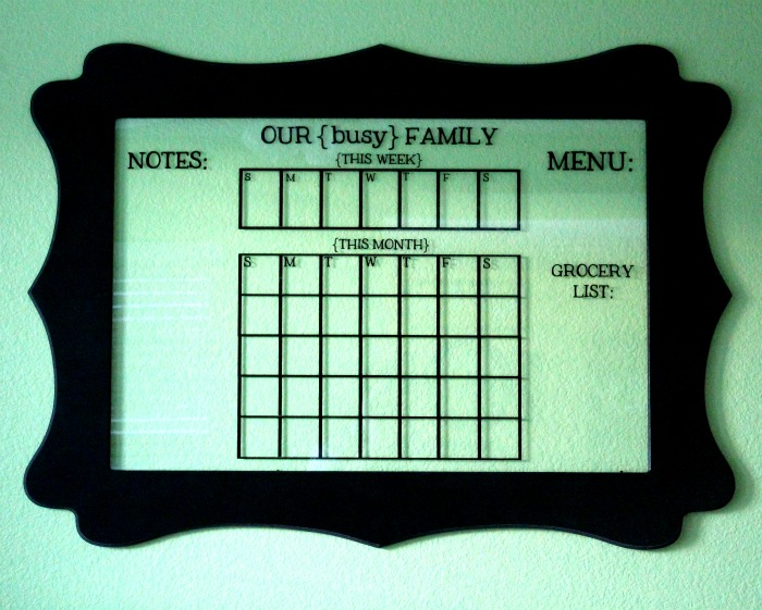 AWESOME Dry-Erase Glass Calendar - LOVE this! { lilluna.com }