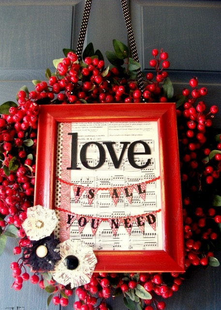 15+ Valentineu0027s Wreaths! A Collection Of Super Cute And Easy Wreaths For  Your Door