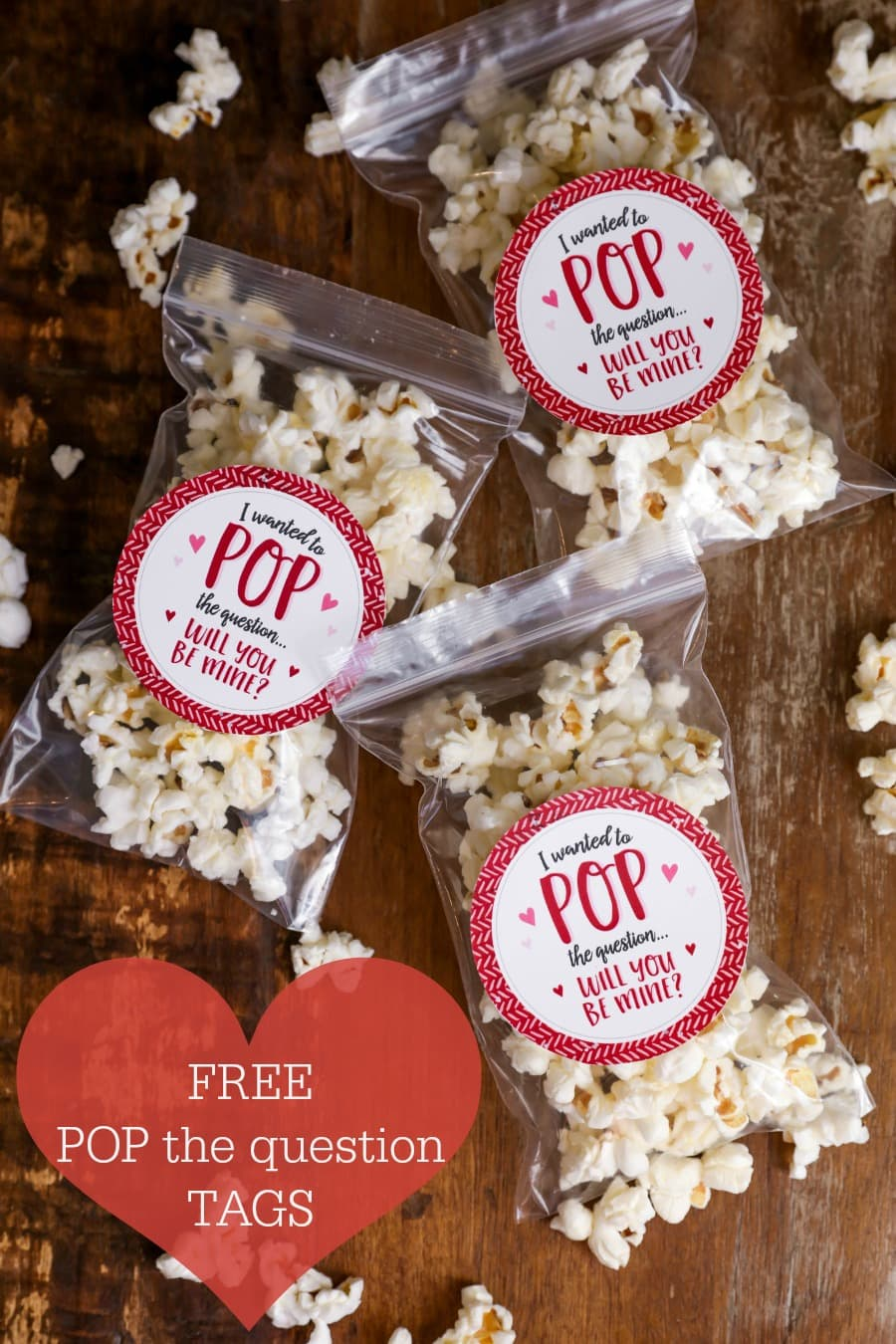 FREE Valentine's Day POP the question tags - perfect to attach to popcorn, Pop Rocks or Pop Tarts!