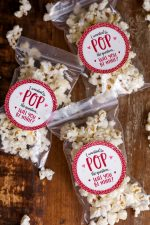 Valentine Popcorn Treat and Tag