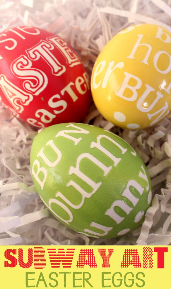 Subway Art Easter Eggs on { lilluna.com } Love how these look! So easy!
