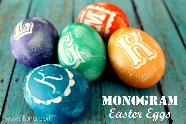 Monogram Easter Eggs on { lilluna.com }