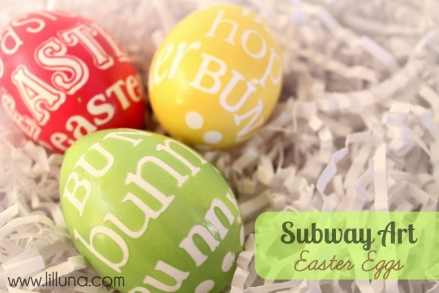 Subway Art Easter Eggs on { lilluna.com } So cute and easy to do!!