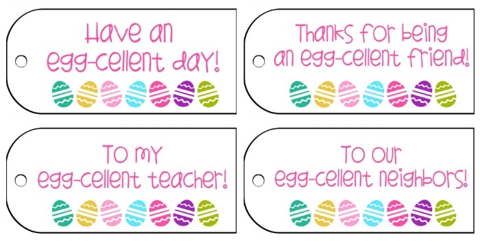 Easter Gift Tags on { lilluna.com } Cute tags for gifts, goodies, anything Easter!