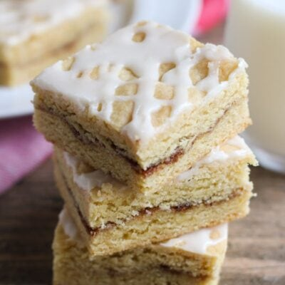 snickerdoodle bars with glaze