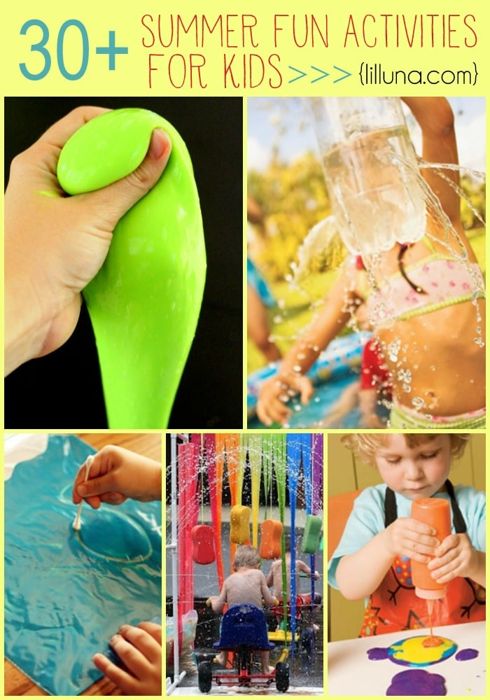 30+ Summer Fun Activities for Kids!! Hours of entertainment all in one place!
