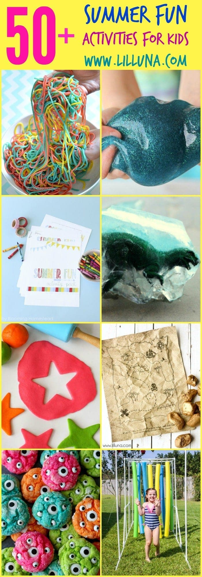 50+ Fun, inexpensive and easy kids activities to do this summer!