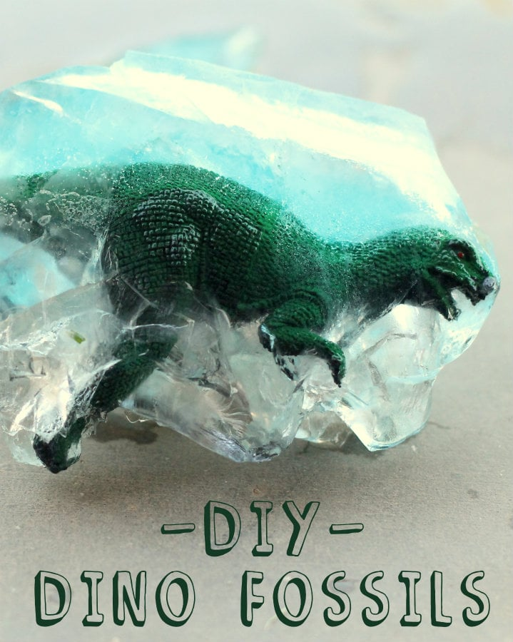 DIY Dino Fossils - the kids loved doing this! Great activity for summer!